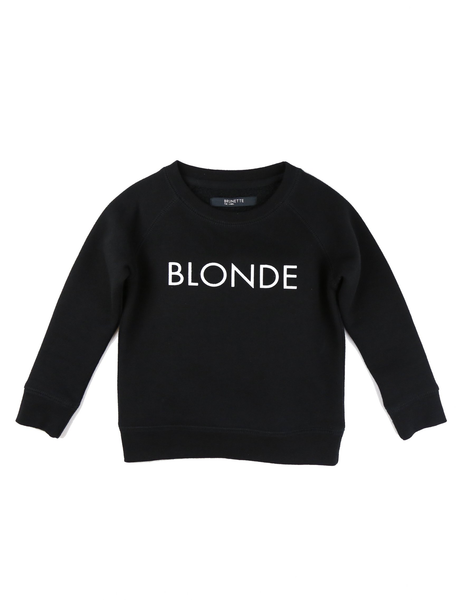 Blonde Kids Crew Neck In Black