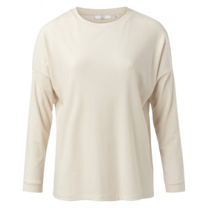 Crew Neck Top In Cream