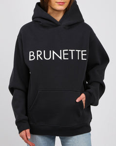 Brunette Core Hoodie In Charcoal