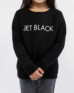 Jet Black Kids Crew In Black