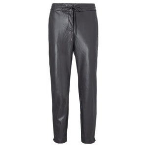 Faux Leather Relaxed Fit Trousers