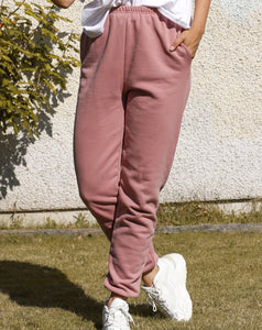 Brunette Basics High Rise Best Friend Jogger In Vintage Rose