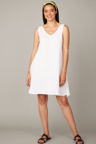 Linen With Cotton Back Dress