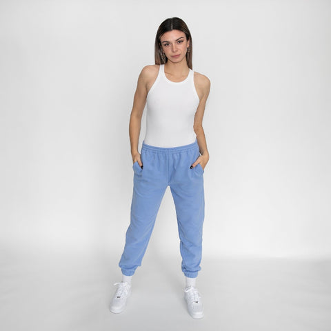 Butter Fleece Jogger In Periwinkle