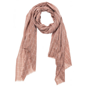 Recycled Fabric Scarf In Rustic Brown