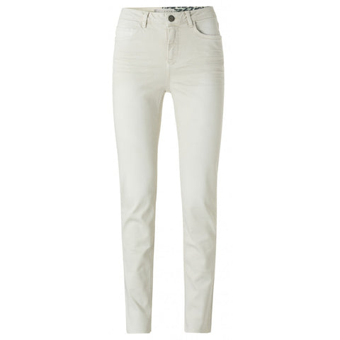 High Waist Straight Denim In Bone White