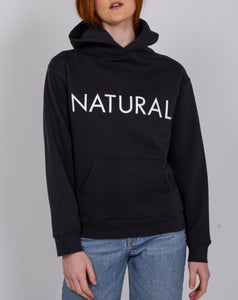 Natural Core Hoodie In Charcoal