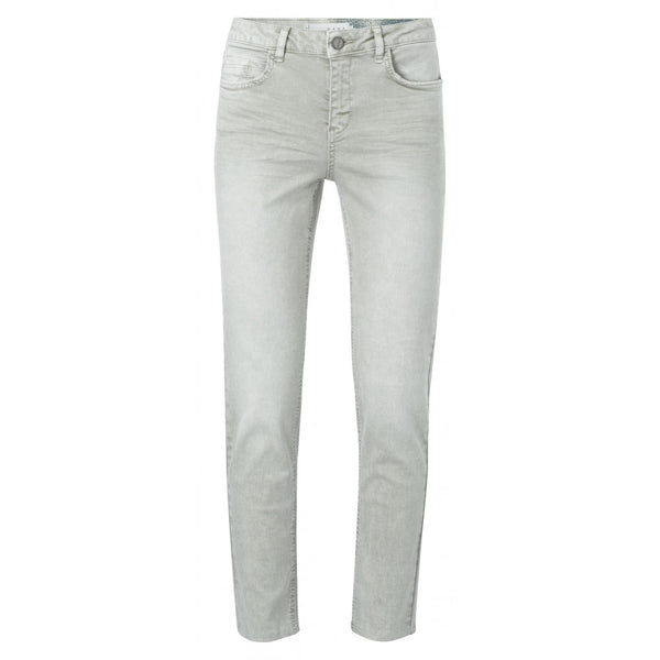 Straight Jeans In Light Grey