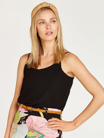 Double Layered Cami In Black
