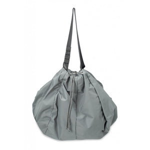 Nylon Shopper In Dusty Sage