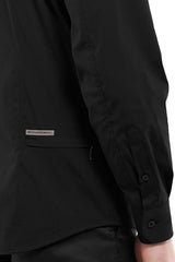DonandMerit men's shirt BCN01 black with adjustable cuff detail
