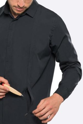 Men's Button Front with 5 Pockets | Black