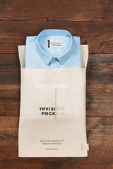 DonandMerit's pocket shirt is delivered in a reusable organic cotton bag