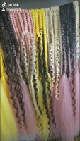 Pastel Ombre Goddess Crochet Braids - (Ready to Ship)