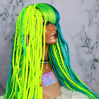 Split Pea Braided Bang Wig - (Ready to Ship)