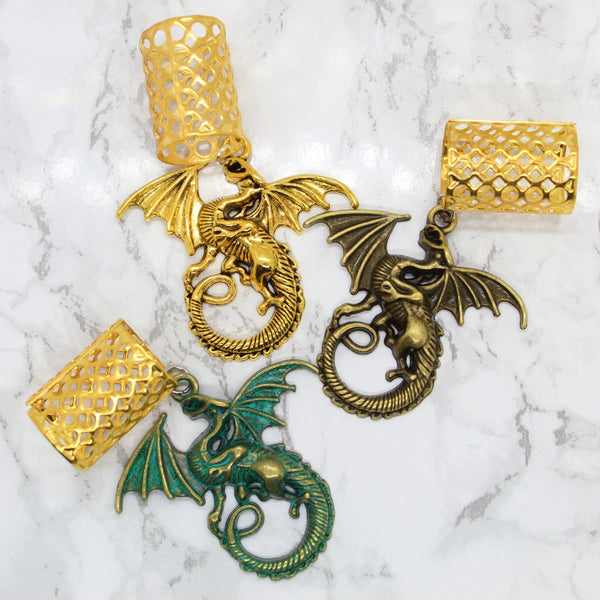 Three Kings Jumbo Dragon Hair Cuff Set | Braid Jewelry
