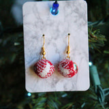 Gold Velvet Ornament Holiday Earrings | Braid Jewelry