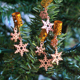 Double Dangle Rose Gold Holiday Ornament Hair Cuffs | Braid Jewelry