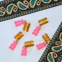 Pink Gummy Bear Hair Cuffs | Braid Jewelry