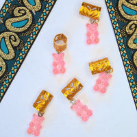 Light Pink Gummy Bear Hair Cuffs | Braid Jewelry