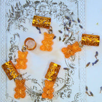 Orange Gummy Bear Hair Cuffs | Braid Jewelry