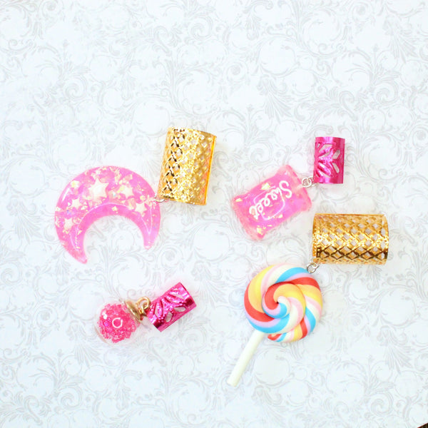Bubble Gum Dish hair cuffs | Braid Jewelry