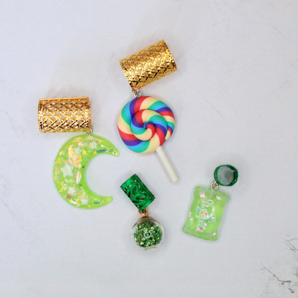 Sour Lime Pops hair cuffs | Braid Jewelry