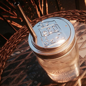 Classic Drinking Jar Lid - Wide Mouth - Stainless Steel - Eco Jarz Aus