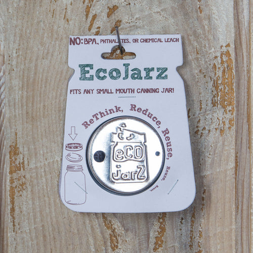 Classic Drinking Jar Lid - Regular Mouth - Stainless Steel - Eco Jarz Aus