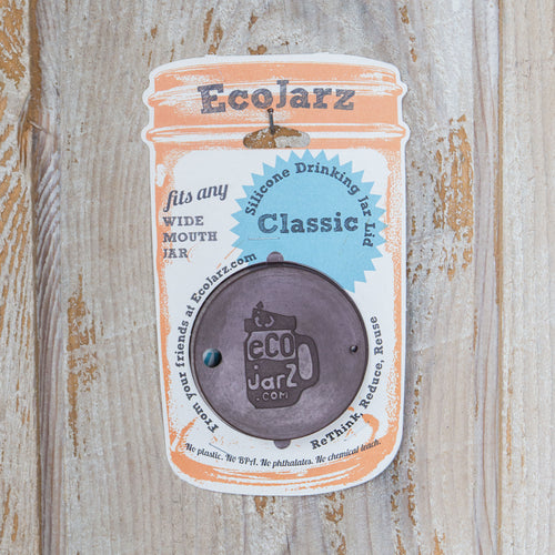 Classic Drinking Jar Lid - Wide Mouth - Silicone - Eco Jarz Aus