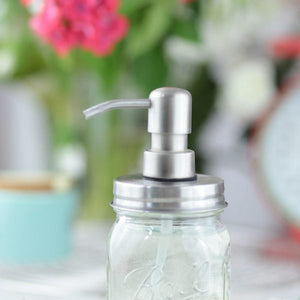 Mason Jar Soap Dispenser - Stainless Steel - Eco Jarz Aus