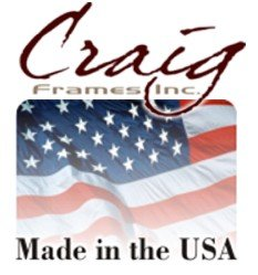 Craig Frames 1WB3BK 8.5 by 11-Inch Picture Frame, Smooth Wrap Finish, 1-Inch Wide, Black