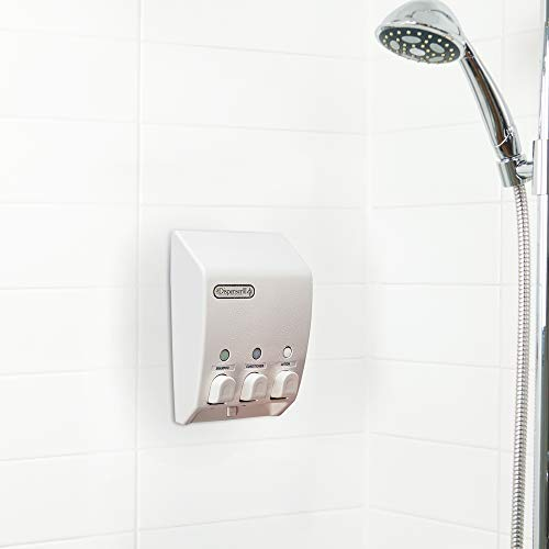 Better Living Products 71355 Classic 3-Chamber Shower Dispenser, White