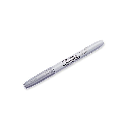 Sharpie 39108 Pp Fine Point Metallic Silver Permanent Marker, 1 Blister Pack With 2 Markers Each (Pac
