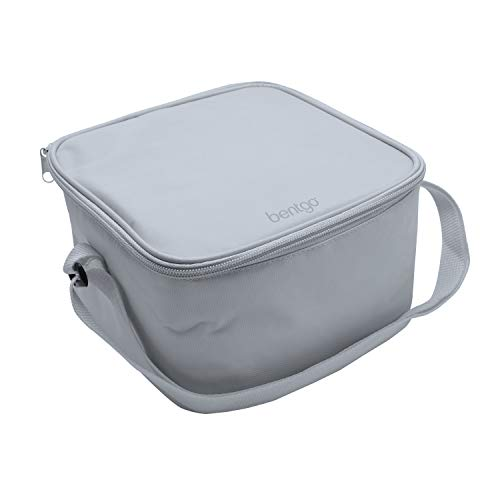 Bentgo Bag (Gray) - Insulated Lunch Bag Keeps Food Cold On The Go - Fits The Classic Lunch Box, Cup, Sauce Dippers and an Ice Pack - Also Works for Other Food Storage Containers