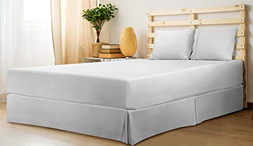 Utopia Bedding Bed Skirt   Soft Quadruple Pleated Dust Ruffle   Easy Fit With 16 Inch Tailored Drop
