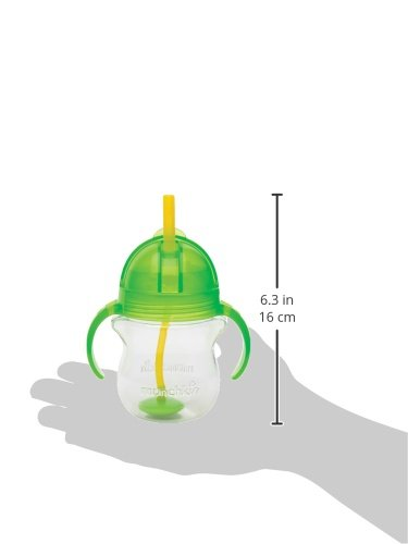 Munchkin Click Lock Weighted Straw Cup, 7 Ounce, Green, Pack of 1