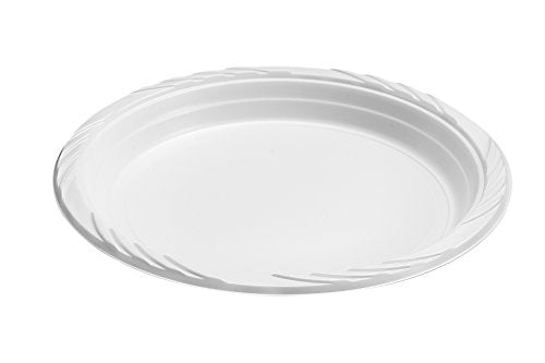 "Blue Sky 100 Count Disposable Plastic Plates, 7"", White"