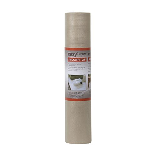 Duck Smooth Top Easy Non Adhesive Shelf Liner 20 Inch X 24 Feet, Taupe