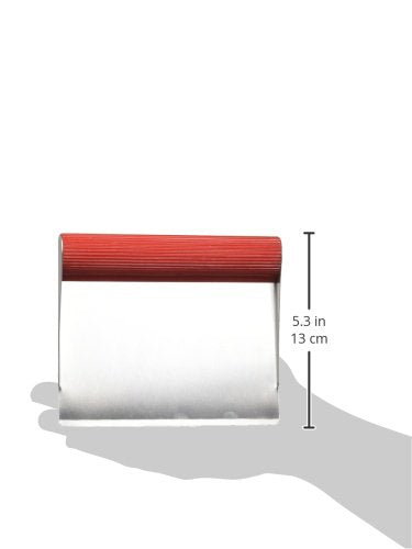 Rachael Ray Tools & Gadgets Stainless Steel Bench Scrape, Red - 56688