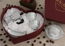2 cups and 2 saucers ESPRESSO set with POT