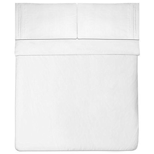 Sweet Home Collection Bed Sheet Set, 4-Pieces, Queen, White