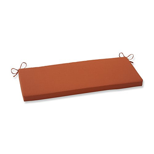 Pillow Perfect Indoor/Outdoor Cinnabar Bench Cushion, Burnt Orange