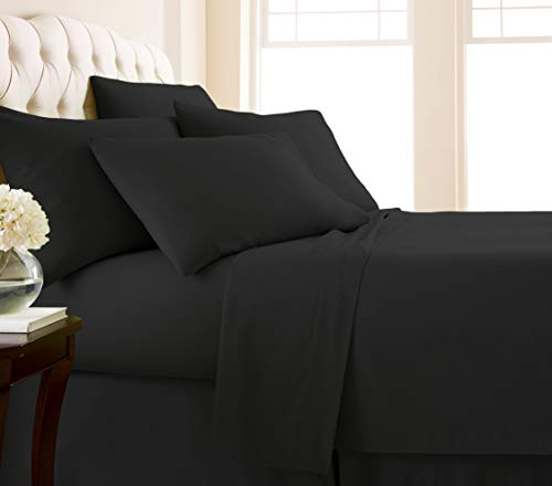 Southshore Fine Living, Inc. Vilano Springs - Premium Collection 6-Piece, 21 Inch Extra-Deep Pocket Sheet Sets, Black, King