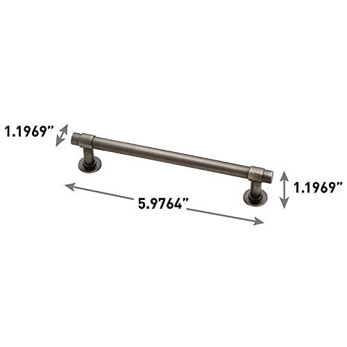 "Franklin Brass P29618 K 904 B 5 1/16"" (128mm) Straight Bar Pull, 10 Pack, Heirloom Silver, 10 Piece"