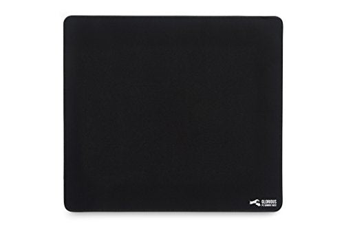"Glorious Xl Gaming Mouse Mat/Pad   Large, Wide (X Large) Black Cloth Mousepad, Stitched Edges | 16""X1"