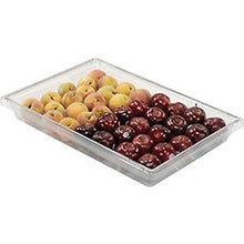 Rubbermaid Commercial Clear Plastic Box 5 Gallon 18 x 26 x 3-1/2 - Lot of 6