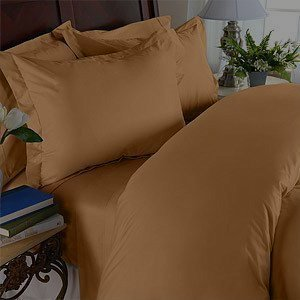 Elegant Comfort 1500 Thread Count Wrinkle & Fade Resistant Egyptian Quality Ultra Soft Luxurious 4-Piece Bed Sheet Set, King, Bronze