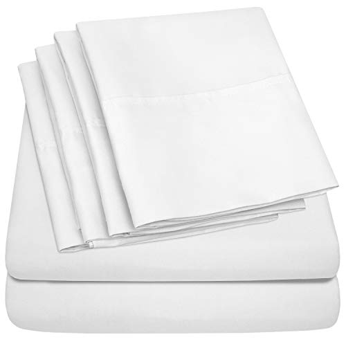 Sweet Home Collection Twin Size Sheets 4 Piece 1500 Thread Count Fine Brushed Microfiber Deep Pocket