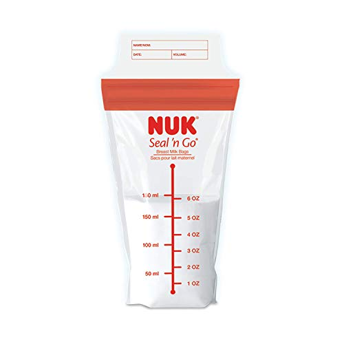 NUK Simply Natural Seal n' Go Breast Milk Bags, 50CT